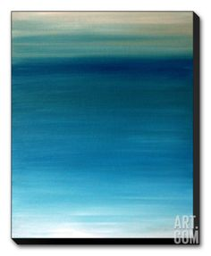 Ocean blue Stretched Canvas Print by Kenny Primmer at Art.com