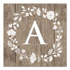 Add modern flair and a touch of rustic style to your décor with the Floral Letter Canvas Wall Art. Appears to be stenciled on antique barn wood. Personalize with the letter of your choice. Makes a wonderful gift for someone special in your life. Rustic Wall Decor, Home Wall Decor, Diy Wall Art, Nursery Wall Art, Room Decor, Monogram Wall Art, Letter Wall Decor, Letter Monogram, Canvas Letters