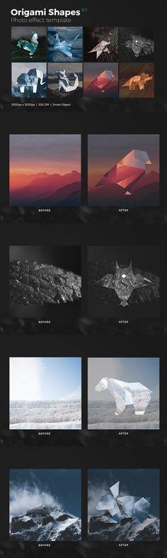 Photoshop Shapes for Graphic Design Origami Shapes, Photoshop Shapes, Bubbles, Graphic Design, Templates, Illustration, Photography, Art, Art Background