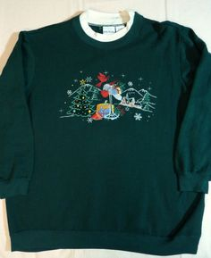 Ugly Christmas Sweater Sweatshirt Winter Snowflakes Gifts Presents Womens Large #BobbieBrooks #Sweatshirt http://www.ebay.com/itm/Ugly-Christmas-Sweater-Sweatshirt-Winter-Snowflakes-Gifts-Presents-Womens-Large-/201153573477