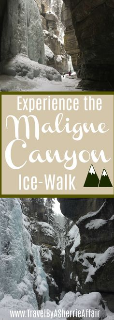 Have you ever been on an ice walk?  The Malique Canyon located in Japer Canada is a great one to experience! See fossils, ice formations and glaciers.  Take a tour and learn all about how the glaciers form.  #glacier #Canada #Jasper #MaligneCanyon #winter #snow #iceformations #hiking #trek #tour