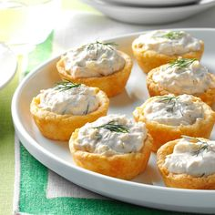 Salmon Mousse Cups Recipe -I make these tempting little tarts frequently for parties. They disappear at an astonishing speed, so I usually double or triple the recipe. The salmon-cream cheese filling and flaky crust will melt in your mouth. —Fran Rowland, Phoenix, Arizona
