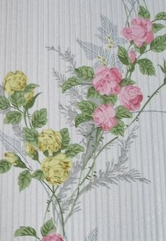 Antique French Romantic Wallpaper Sample Sheet for period paper projects. $6.00, via Etsy.