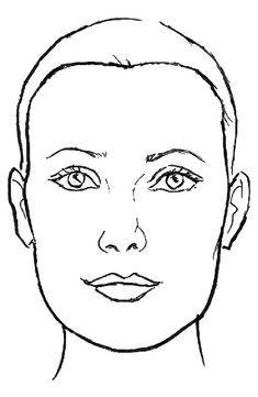 Haircuts for Oblong Faces AKA Long Faces. Because your face is noticeably longer than it is wide you want to balance out your face by addin. Mac Face Charts, Makeup Face Charts, Face Template Makeup, Head Shapes, Face Shapes, Hairstyles For Rectangular Faces, Rectangle Face Shape, Haircut For Face Shape, Face Pictures