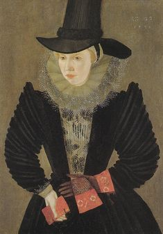 Joan Woodward, wife of the actor Edward Alleyn and step-daughter of Philip Henslowe, 1596. Dulwich Picture Gallery. Unknown artist, British School. Note the embroidered stomacher and the gloves.