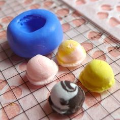 Decoden Supplies Ice Cream Scoop 11mm Silicone Flexible Mold Kawaii Miniature Sweets Fimo Polymer Clay Jewelry Charms DIY Cabochon Mold. $3.95, via Etsy.