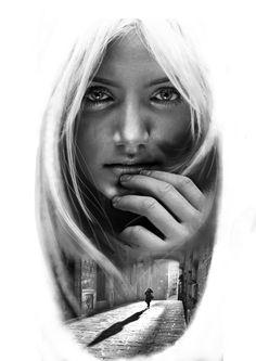 Girl Face Tattoo, Girl Tattoos, Tattoo Sketches, Tattoo Drawings, Body Art Tattoos, Sleeve Tattoos, Ozzy Tattoo, Yogi Tattoo, Cool Pencil Drawings