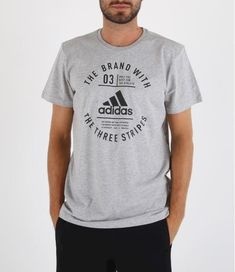 best loved 7878c dcb40 Camiseta manga corta Adidas Emblem. DI0286. Grey black.
