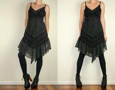 Black Lace Crochet Broderie Anglaise Grunge by DarkHorseWanderer, $25.00
