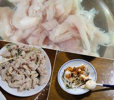 よだれ鶏をリベンジ コストコのよだれ鶏のタレ  ささみを60度2時間Anova