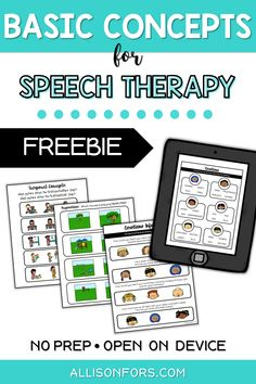 Free sample of basic concepts resources! Perfect pages for introducing basic concepts in speech therapy with repetitive, consistent worksheets that keep kids engaged. No prep, print and go pages or just open on your device! Speech Therapy Shirts, Speech Therapy Themes, Speech Therapy Activities, Speech Language Pathology, Speech And Language, Play Therapy Techniques, Receptive Language, Apps, Articulation Activities
