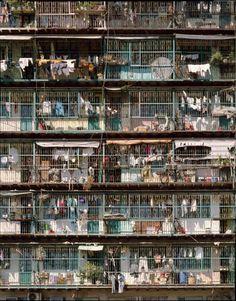 Vertical slums of Kowloon Walled City, as published in The Architecture of Kowloon Walled City: An Excerpt from City of Darkness Revisited, Hong Kong, by Ian Lambot and Greg Girard. Kowloon Walled City, Guy Debord, Urban Life, City Architecture, Slums, Dalai Lama, Urban Photography, Urban Decay, Hong Kong