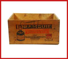 "1x 18 1/2"" wide x 9 1/4"" tall x 14"". Vintage Drambuie Prince Charles Edward's Liqueur Wood Box."