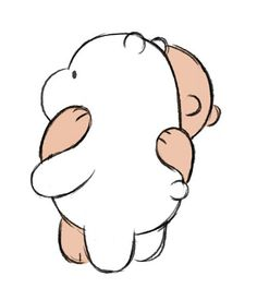 we bare bears Hug Cartoon, Polar Bear Cartoon, Hugging Drawing, Bear Drawing, Cute Cartoon Wallpapers, Cute Wallpaper Backgrounds, Cartoon Network, Bear Tumblr, Bear Sketch