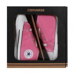 Converse 88871 Baby Chuck Krabbelschuhe First Star Hi Geschenkbox pink