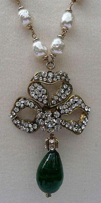 Chanel Vintage Gripoix Sautoir Necklace 70'S | eBay