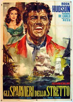 Sea Devils Movie Poster #RockHudson #YvonneDeCarlo #BryanForbes #MaxwellReed