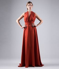 #italianStyle #madeinitaly Long dress of pure silk georgette
