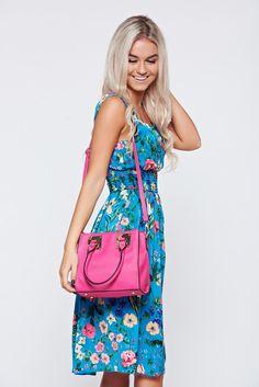 Comanda online, Geanta dama casual roz cu accesoriu metalic. Articole masurate, calitate garantata! Casual, Summer, Bags, Fashion, Handbags, Moda, Summer Time, Fashion Styles, Taschen