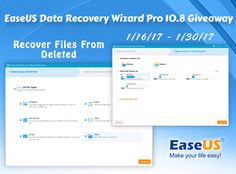 EaseUS Data Recovery Wizard Pro 10.8 Giveaway - Ends 1/30 | Finding Sanity in Our Crazy Life