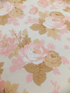 Roses Wallpaper Rolls of Wallpaper Vintage by peonyandthistle, £40.00
