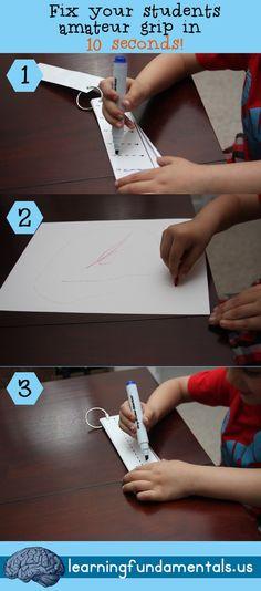 Simple yet so effective! Fix that stubborn poor pencil grip in 10 seconds flat!