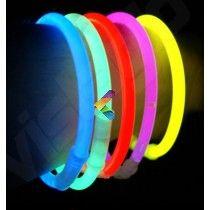 100 Bracelets Fluo Lumineux Superbrite® Couleurs Assorties
