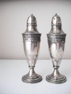 107 Best Silver Salt Pepper Shakers Images Salt Pepper Salt N