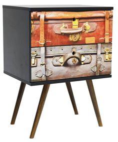 Gaveteiro em MDF com 02 gavetas - h63 x L45,5 x p35,5 - OnLine Atelier - Loja Virtual - onlineatelier@hotmail.com - (54) 9165-9726
