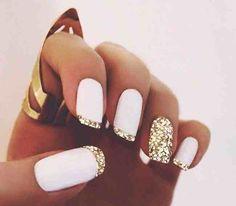 13 sugestões de manicura francesa para embelezar suas unhas