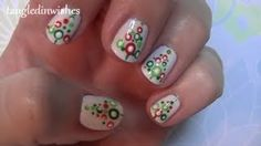 For Short Nails: Easy Abstract Christmas Tree Nail Art Design, via YouTube.