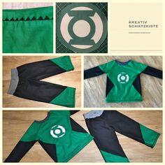 Green Lantern Kostüm für Kinder - selbst genäht! How to sew a Green Lantern Costume for kids!