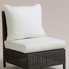 One of my favorite discoveries at WorldMarket.com: Solano Sectional Slipper Chair Cushions and Slipcovers Set