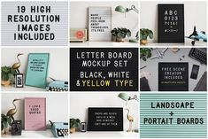 Graphic Design - Graphic Design Ideas  - Letter board mockup set by mactrunk on Creative Market   Graphic Design Ideas :     – Picture :     – Description  Letter board mockup set by mactrunk on Creative Market  -Read More –
