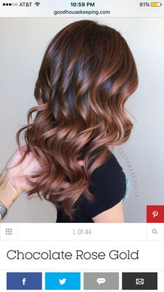 """27 Rose Gold Hair Color Ideas That Make You Say """"Wow!"""" 27 Rose Gold Hair Color Ideas That Make You Say """"Wow!"""", Rose Gold Hair Color Gold Pink Hair Colors Fashion for certain colors and shades can walk in a… Continue Reading → Gold Hair Colors, Hair Color Pink, New Hair Colors, Cool Hair Color, Brown Hair Colors, Autumn Hair Colors, Aveda Hair Color, Hair Color For Women, Eye Color"""