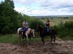 Charlotte from Germany enjoying horseback riding with her host mother in the Crown Point region - Michigan!