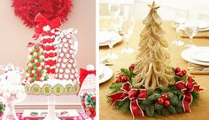 Christmas Tree Wedding: a live or crafted tree can make the perfect table centerpiece #PreppyPlanner