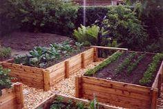 Elevated vegetable garden