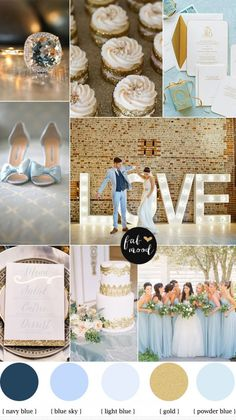 You set on pink? I like this Blue and Gold Wedding Theme