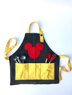 Kids apron, Children's apron, Girl's apron, Apron for kids, Reversible Apron for Kids - Disney inspired