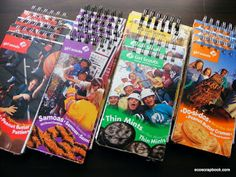 Girl Scout cookie box notepads .. GREAT idea!