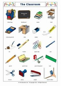 Spanish Classroom Flashcards for children | Papelería | Teaching beginners Spanish classroom vocabulary easy and with fun