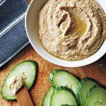 Peanut Butter Hummus with Cucumber Dippers Recipe | MyRecipes.com