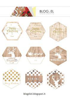 etichette esagonali per pacchetti natale Tag, Brand Me, Brand Identity, Free Printables, Shabby Chic, Cards, Products, Free Printable, Maps