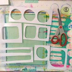 Rachel Fontenot - Gelli Plate Printing - acrylic - paint - printmaking