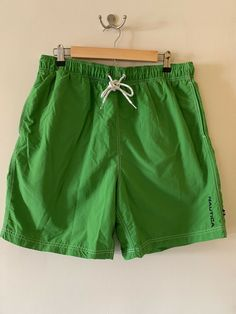 7643935d833 Details about Nautica mens swim trunks Green size TG XL with inside pocket