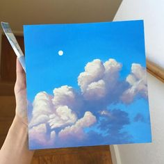 (no title) ☁️ ? - What is your painting style? How do you find your own color . - What is your painting style? How do you find your own painting style? Cute Canvas Paintings, Mini Canvas Art, Simple Paintings, Painting Inspiration, Art Inspo, Aesthetic Painting, Acrylic Art, Painting & Drawing, Sky Painting