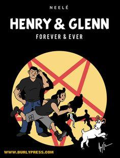 Henry & Glenn Forever & Ever x Tintin/Hergé print