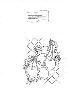 LW 774 d Cherry embroidery pattern use as center square with vintage kitchen curtain fabric for tote Hungarian Embroidery, Vintage Embroidery, Diy Embroidery, Cross Stitch Embroidery, Machine Embroidery, Embroidery Transfers, Hand Embroidery Patterns, Embroidery Designs, Lazy Daisy Stitch