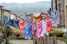 The rise and rise of dryers...http://www.dailymail.co.uk/news/article-2718658/Decline-clothes-line-costing-families-millions-Half-British-households-use-tumble-dryer-week-warm-summer-months.html